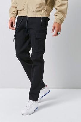 Forever 21 Slim-Fit Zip-Pocket Cargo Pants