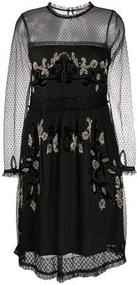 Twin-Set Beaded Sheer Dress
