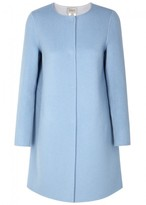 Armani Collezioni Light Blue Wool Blend Coat