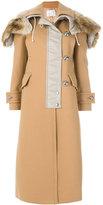 Sacai front fastening coat