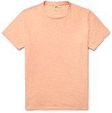 Velva Sheen Slim-fit Slub Cotton-jersey T-shirt - Peach