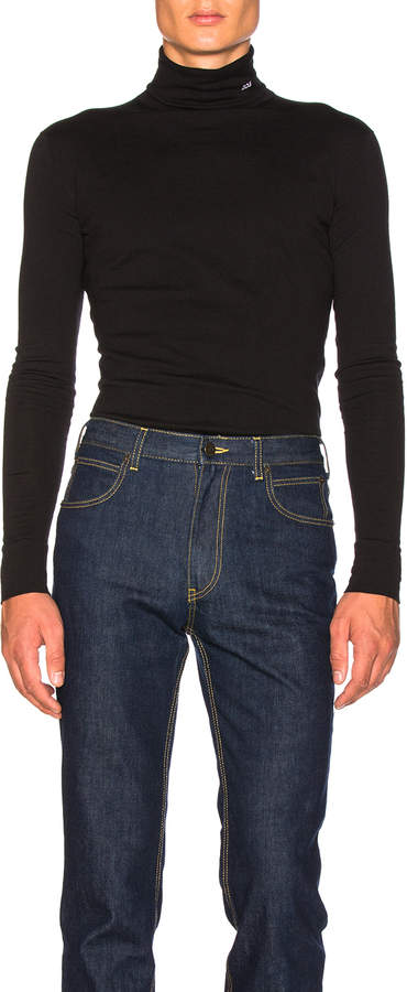 Calvin Klein Interlock Jersey Turtleneck
