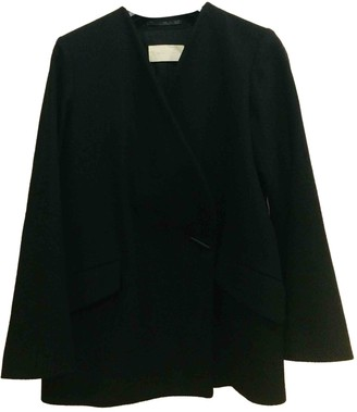 Mauro Grifoni Black Wool Coat for Women
