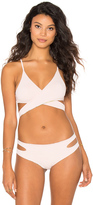 San Lorenzo Cut Out Wrap Bikini Top