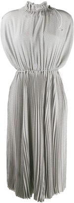 Fendi Toggle Detailed Pleated Dress