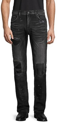 PRPS Distressed Splatter-Print Jeans