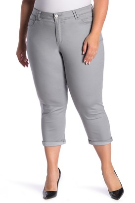 Democracy High-Rise Stretch Twill Rolled Pants (Plus Size)