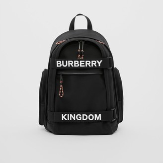 Burberry Large Logo and Kingdom Detail Nevis Backpack