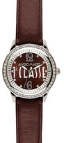 Alviero Martini Prima Classe Women's PCD 935S/UU Stainless Steel Brown Leather Swarovski Stones Watch