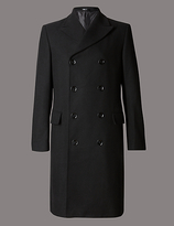 Autograph Tailored Fit Double Breasted Overcoat