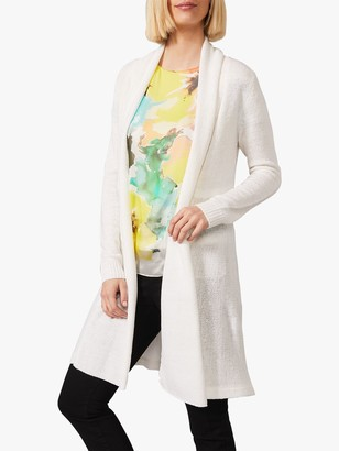 Phase Eight Lili Open Neck Longline Cardigan, White