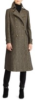 Lauren Ralph Lauren Women's Herringbone Wool Blend Long Military Coat
