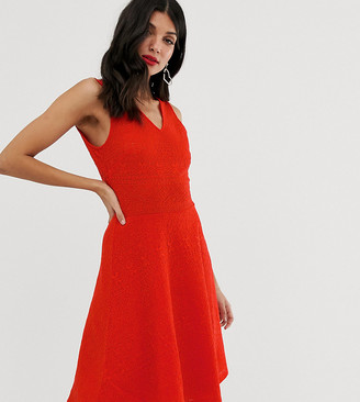 Asos Y.A.S Tall Caia sleeveless skater dress-Red