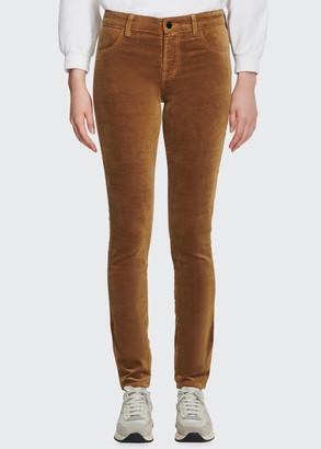 J Brand 815 Mid-Rise Super-Skinny Velvet Jeans