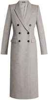 Alexander McQueen Double-breasted peak-lapel wool coat