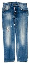 DSQUARED2 Distressed Five-Pocket Jeans