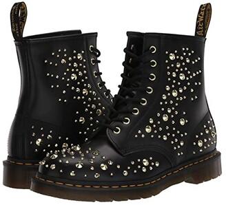 Dr. Martens Made In England 1460 Midas Gold Stud (Black) Shoes