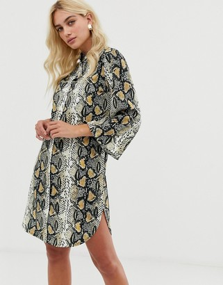 Zibi London snake print shirt dress