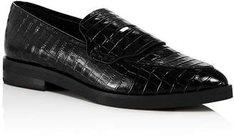 Rebecca Minkoff Women's Pacey Snake-Embossed Pointed-Toe Loafers - 100% Exclusive