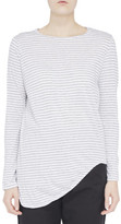 Bassike Stripe Htg Scoop Hem L/S T.Shirt