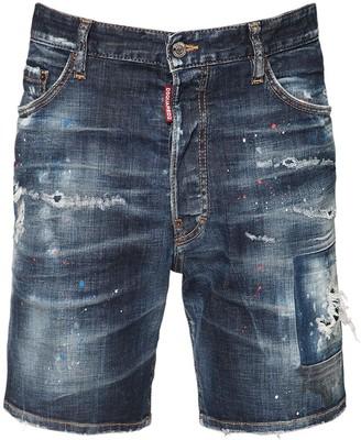 DSQUARED2 26cm Marine Cotton Denim Shorts