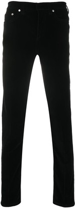 Neil Barrett Velvet Finish Skinny Trousers