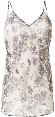 IRO Floral-Print Sleeveless Blouse