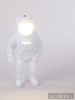 Seletti Cosmic Flashing Starman LED USB Table Lamp, White