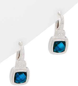 Judith Ripka La Petite Silver Gemstone Drop Earrings