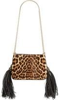 Christian Louboutin 'Small Triloubi' Leopard Print Calf Hair Handbag