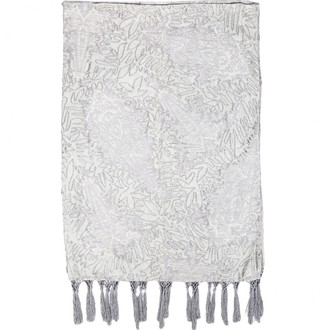 Dries Van Noten Silver Silk Scarves