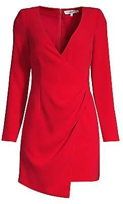 LIKELY Women's Dani Long-Sleeve Wrap Mini Dress