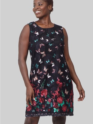M&Co Izabel Curve butterfly print lace dress