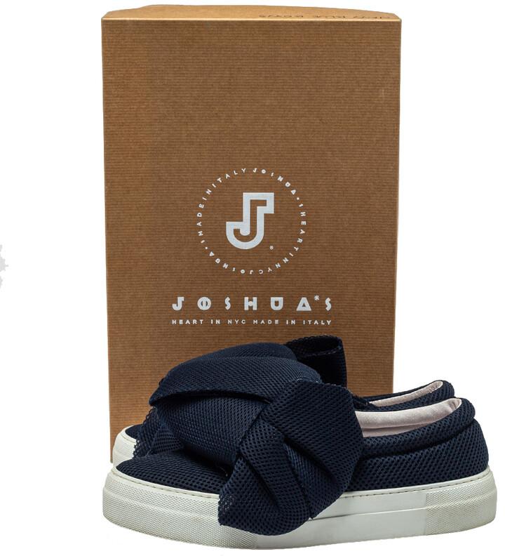 Thumbnail for your product : Joshua Sanders Blue Mesh Felt Bow Slip On Sneakers Size 38