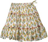 Pink Chicken Allie Skirt (Toddler/Kid) - Yellow Indian Floral-3 Years
