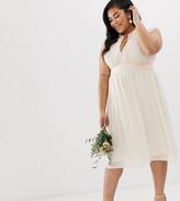 TFNC Plus Plus Lace Detail Midi Bridesmaid Dress