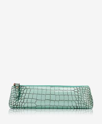 GiGi New York Essentials Case, Mint Crocodile Embossed Leather