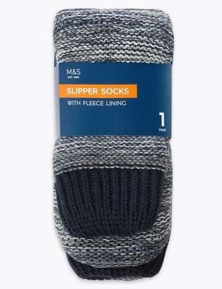 Marks and Spencer Ombre Fleece Lined Slipper Socks