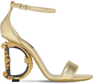 Dolce & Gabbana 105mm Metallic Leather Sandals