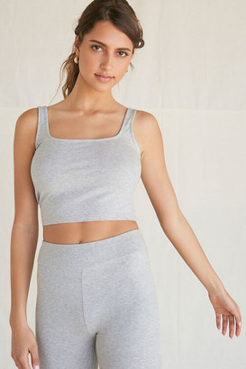 Forever 21 Cotton-Blend Cropped Tank Top