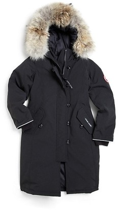 Canada Goose Kid's Brittania Coyote Fur-Trim Down Parka