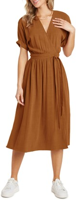 Willow Helen Dolman Sleeve Wrap Dress