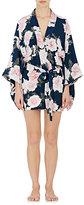 Fleur Du Mal Women's Floral-Print Short Kimono Robe-BLUE