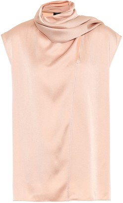 Joseph Sleeveless satin-crepe top