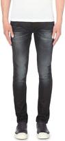 Nudie Jeans long john blue on grey slim-fit skinny jeans