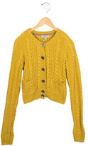 Burberry Girls' Cable Knit Button-Up Cardigan