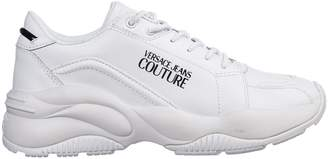 Versace Logo Panelled Sneakers