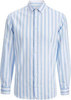 Bedstripe Shirting John Shirt In Blue