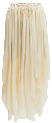 Ann Demeulemeester Nanette Asymmetric-hem Satin Skirt - Womens - Cream