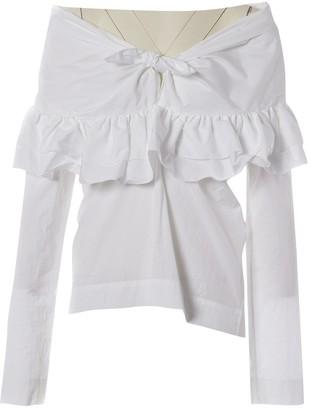 Isa Arfen White Cotton Top for Women